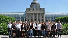 Zehntklässler besuchen die Staatskanzlei in München